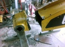 Repairs to backhoe boom